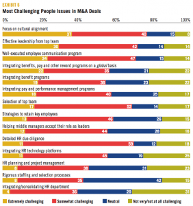 EXHIBIT 6 Most Challenging People Issues in M&A Deals