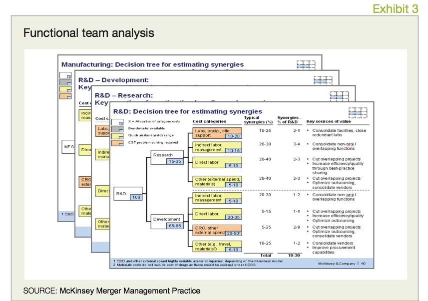 Exhibit 3 Functional team analysis