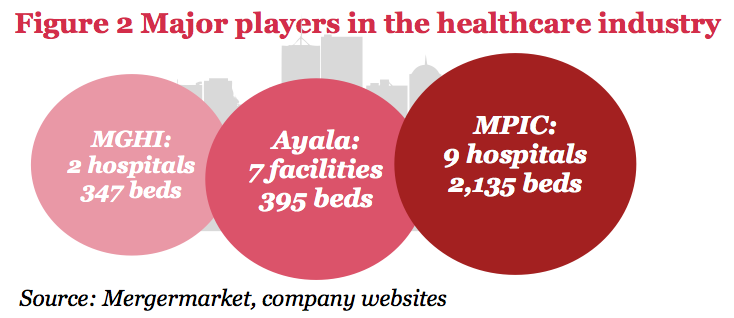 Figure 2 Major players in the healthcare industry