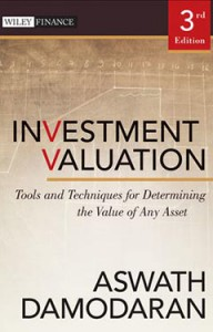 Book Cover of Investment Valuation by Aswath Damodaran, 3rd edition published by Wiley