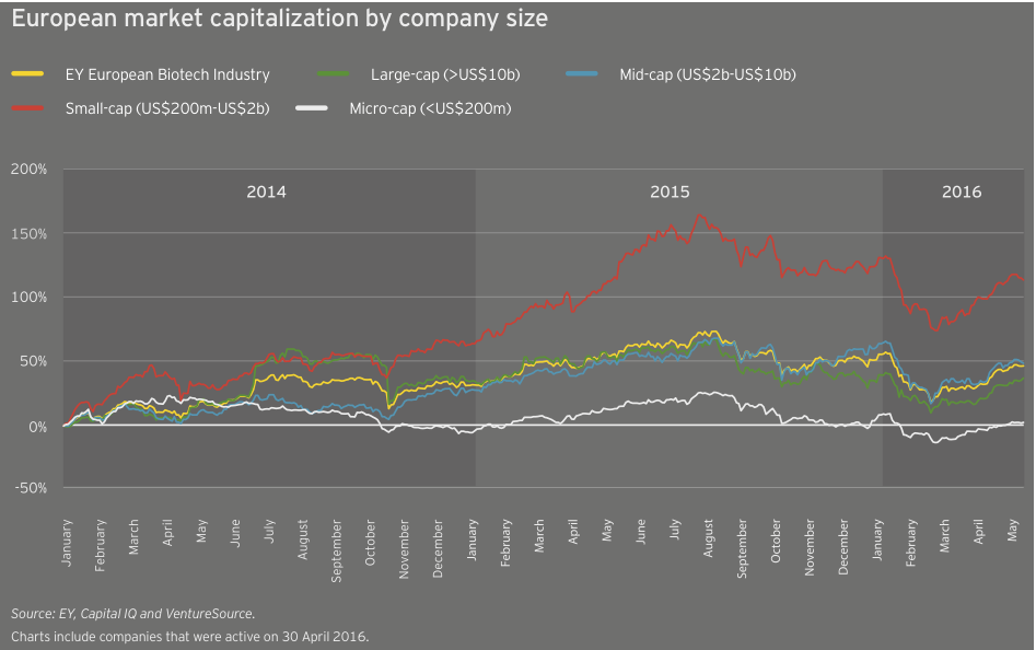 Figure 19 European market capitalization by company size
