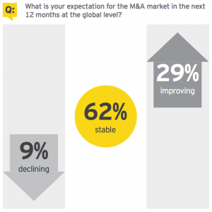 Figure 10 What is your expectation for the M&A market in the next 12 months at the global level?