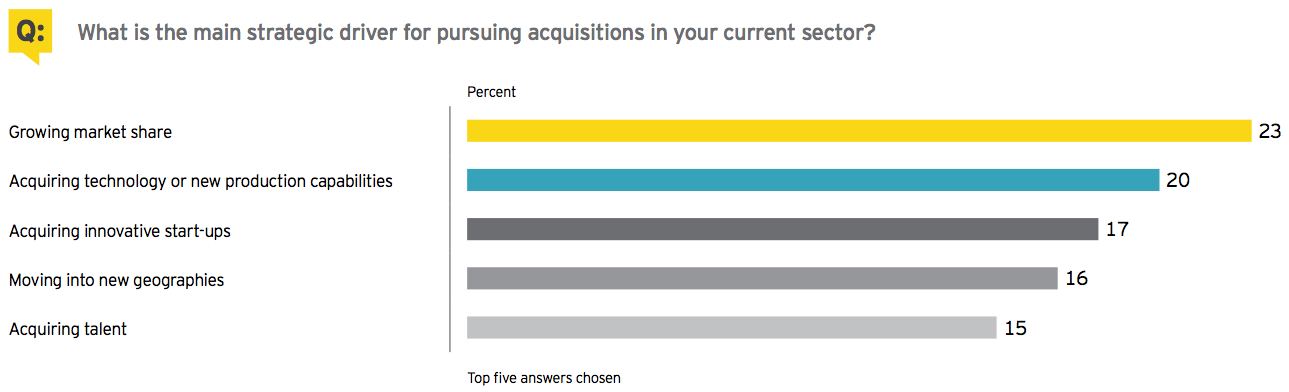 Figure 16 What is the main strategic driver for pursuing acquisitions in your current sector?