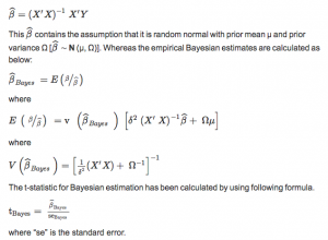 Figure 4 Modeling for empirical Bayesian