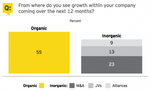 Figure 6 From where do you see growth within your company coming over the next 12 months?