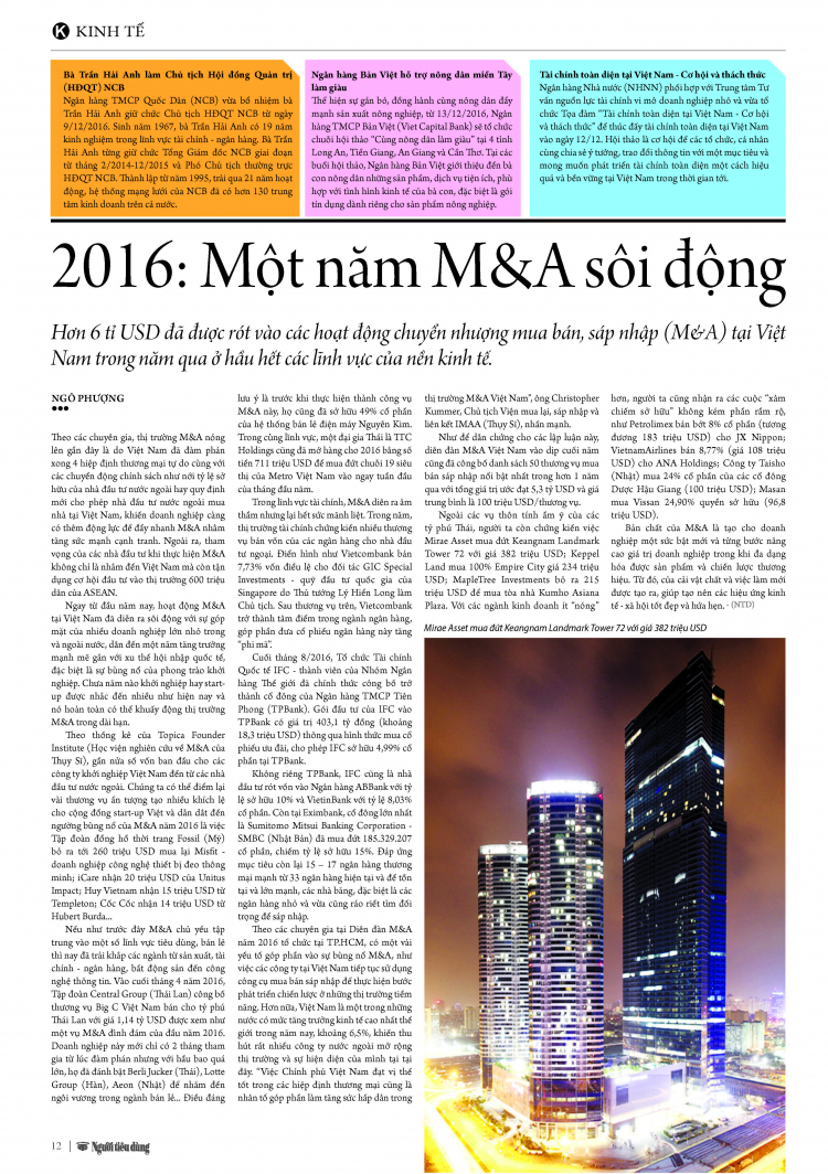 Screenshot of Article M&A Vietnam