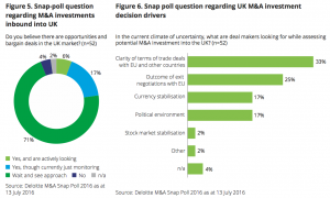 Figure 5-6 Snap-poll questions regarding M&A