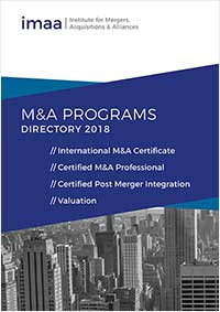 Cover for Mergers & Acquisitions Certificate Programs and Valuation Trainings