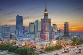 Picture of Warsaw, Poland, as a location for valuation, m&a, post merger integration