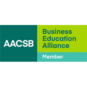 Logo of AACSB is a global business education network and association Education