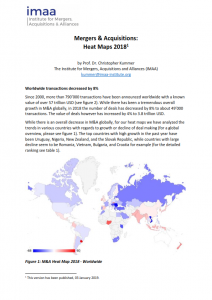 Cover page of the Mergers & Acquisitions Heat Map Report 2018