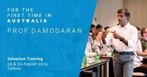 Prof. Damodaran in Australia for the first time