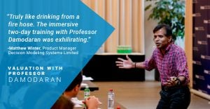 Valuation Training Participant Testimonial Damodaran