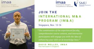 International M&A training in Singapore