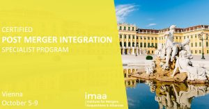 Post Merger Integration Training Certification onsite in Vienna, October 2020