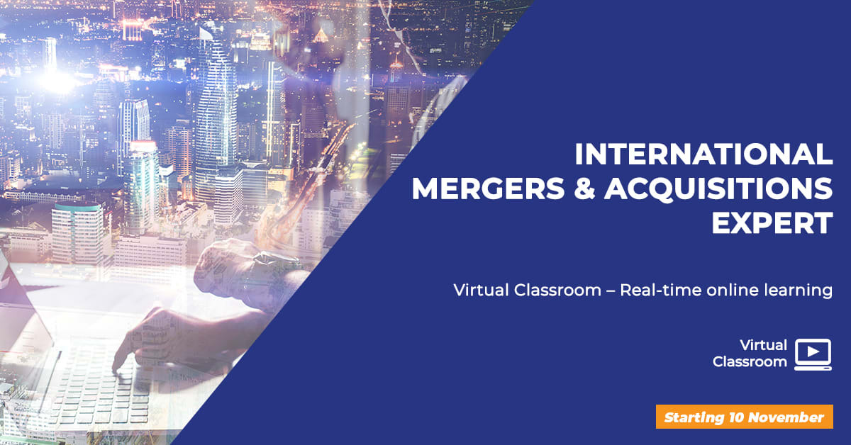 Mergers & Acquisitions Certificate training online interactive live